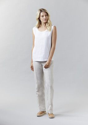 Washed Linen & Knit Shell | Washed Linen Pant - V5204 Washed Linen & Knit ShellV5202 Washed Linen Pant- other colours available