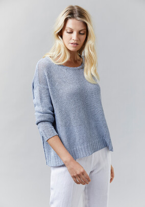 Wide Cropped Jumper | Washed Linen Pants - V5239 Wide Cropped JumperV5202 Washed Linen Pant- other colours available