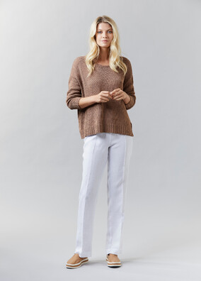 Wide Cropped Jumper | Washed Linen Pants - V5239 Wide Cropped JumperV5202 Washed Linen Pant - other colours available
