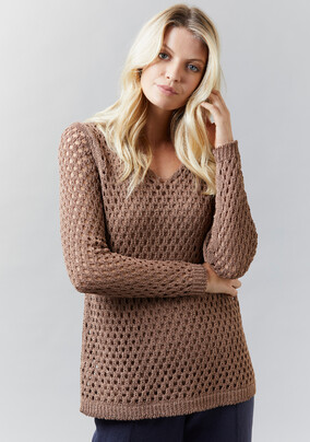 Eyelet Jumper | Cami - V5238 Eyelet Jumper V5244 Cami- other colours available